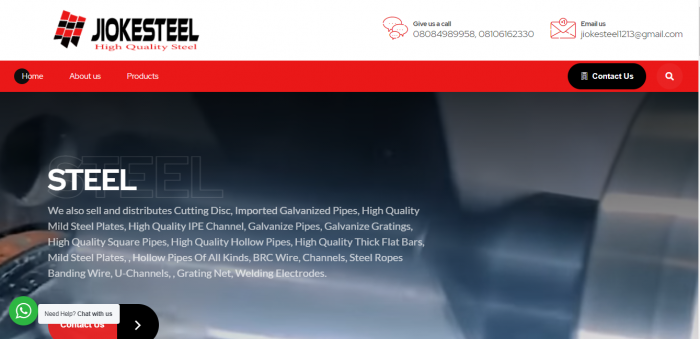 JIOKESTEEL - Distributor And Saller of High Quality Steel Products